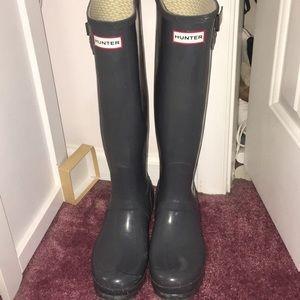 Gray Hunter Boots